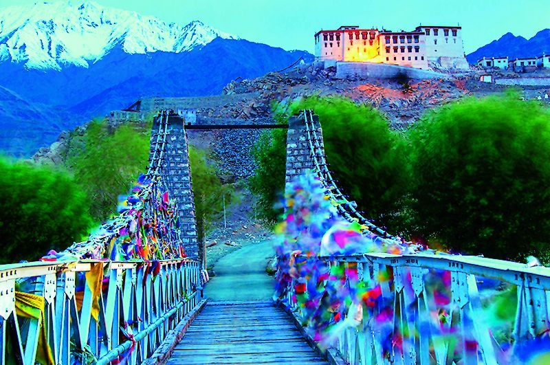 A shot of the Stakna Monastery, Ladakh.