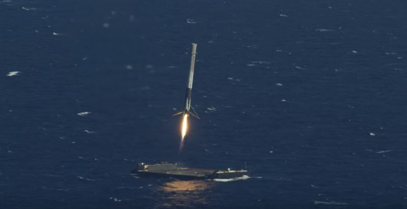 the first stage of the falcon 9 just landed on our of course i still love you droneship spacex wrote on twitter after launch from cape canaveral
