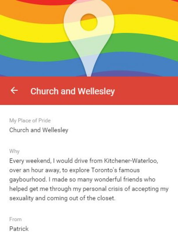 A Place of Pride can be anywhere you've experienced or felt pride as an LGBT member. (Photo: Google)