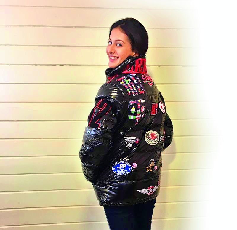 Amyra sports the jacket  gifted by Jackie