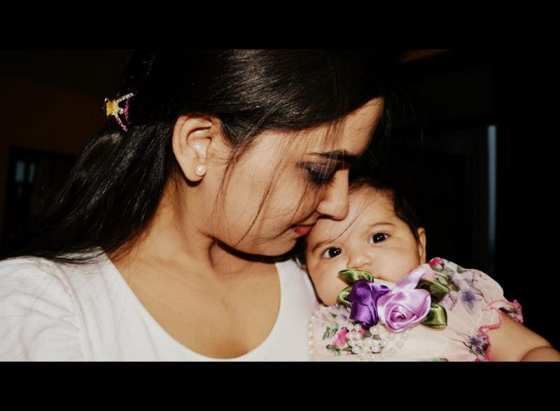 Shivani with her daughter Myra when she was just a baby. (Photo: Facebook)