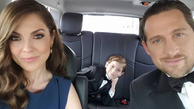 Jacob Tremblay with his family.