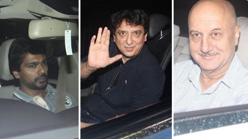 Nikhil Dwivedi, Sajid Nadiadwala and Anupama Kher at Sultan screening.