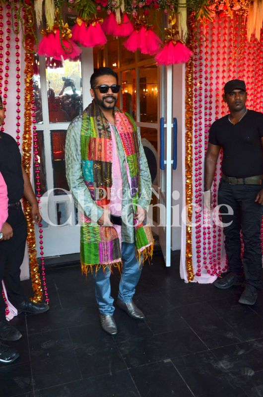 Fashion designer Rocky S attends Bipasha Basu's mehendi ceremony.