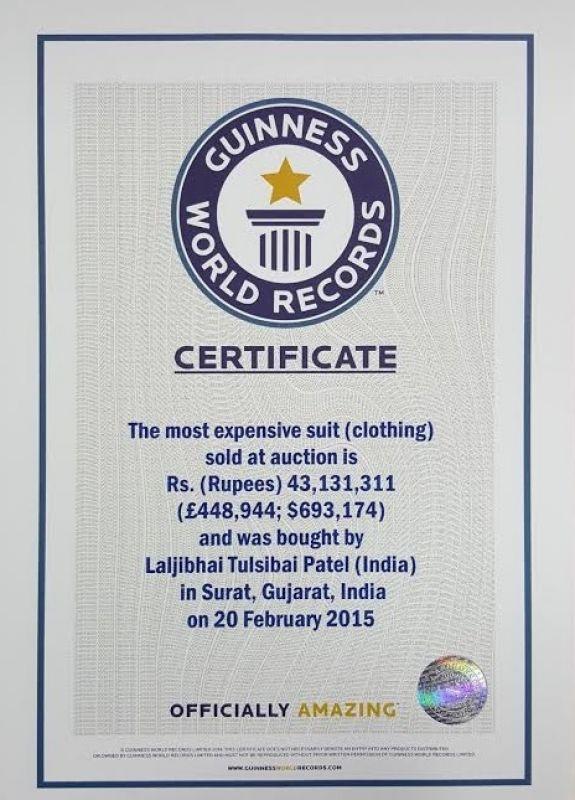 Narendra Modi monogrammed suit