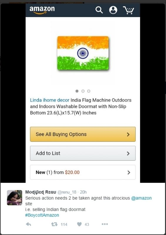 Amazon Boycott  sc 1 st  Deccan Chronicle & Amazon selling Hindu gods on doormats: #BoycottAmazon trending pezcame.com