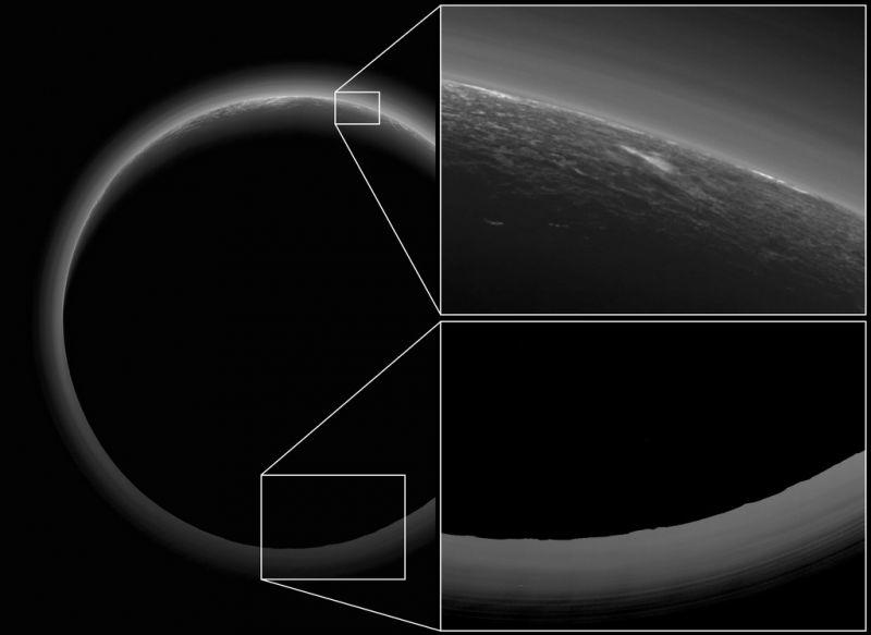 Pluto glowing spot