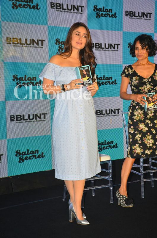Kareena kapoor khan has a good hair day for Adhuna akhtar salon