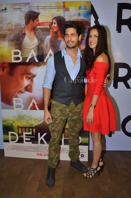 Sidharth Malhotra and Katrina Kaif all smiles at Baar Baar