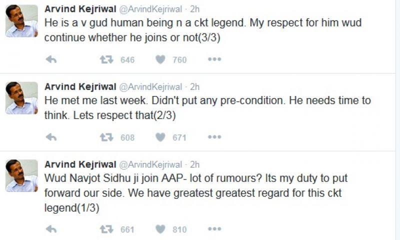 Kejriwal tweet