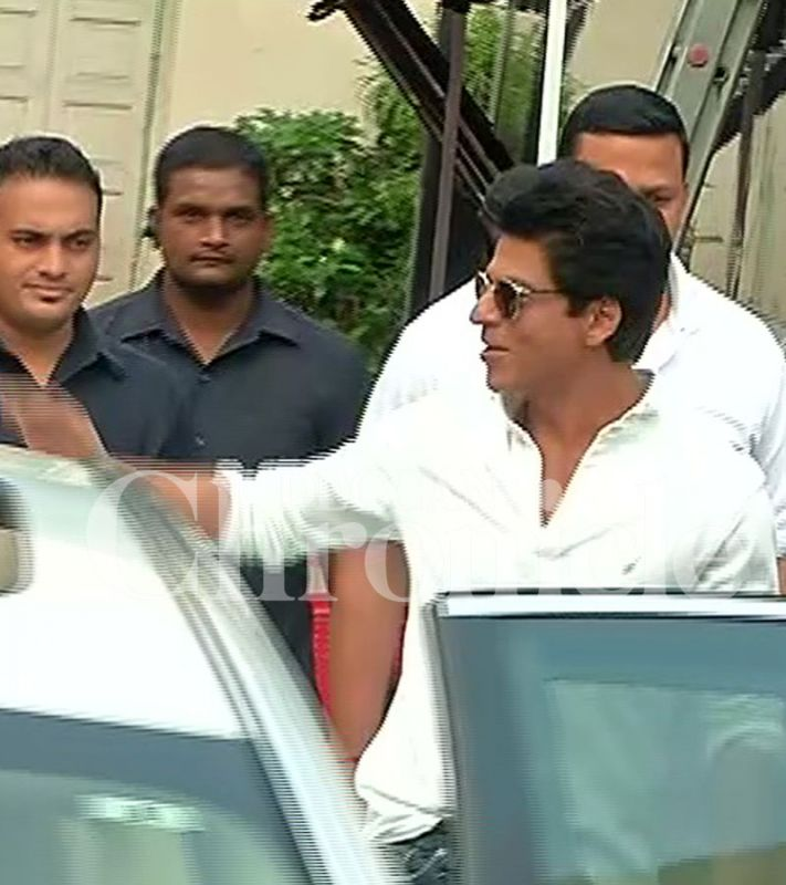 Shah Rukh Khan was at the Mehboob studios to an ad shoot.
