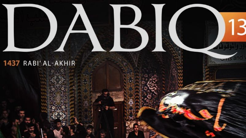 Cover of the 13th issue of ISIS' mouthpiece magazine Dabiq. (Photo: Screen grab)