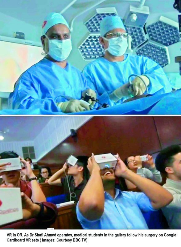The Virtual Surgeon lets professional viewers see surgeries through the eye of the surgeon and works with Oculus Rift, Samsung Gear VR, and the cheapest cardboard VR set