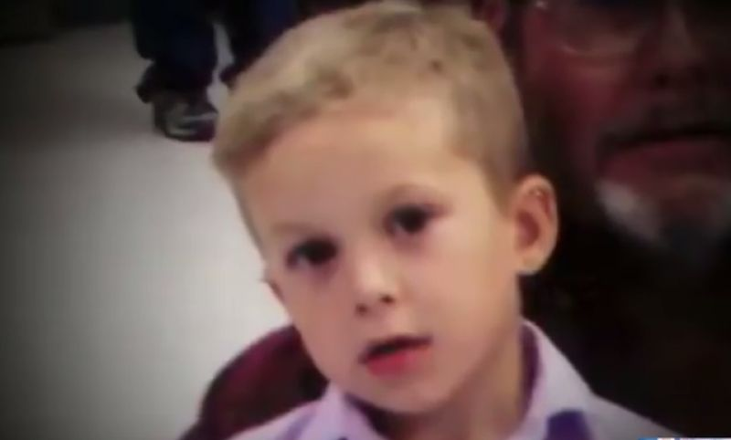 Amanda's son AJ told his grandparents his mother had 'dunked' his sister in the pool for being naughty. (Photo: YouTube screengrab)