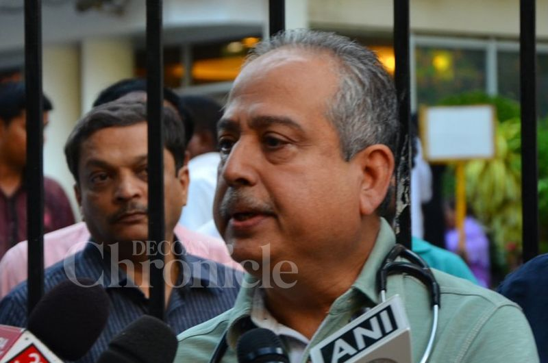 Dr Jalil Parkar addresses the media, talks about Dilip Kumar's health condition.