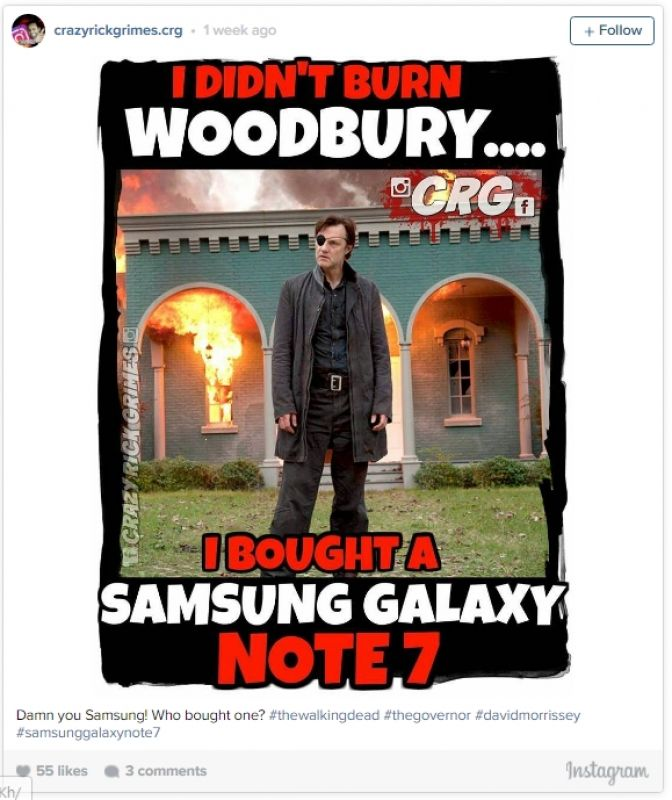 Samsung Galaxy Note 7 Funny Memes