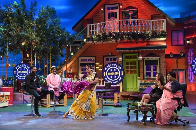 Yuvraj and fiancé Hazel Keech have a blast on the sets of Kapil