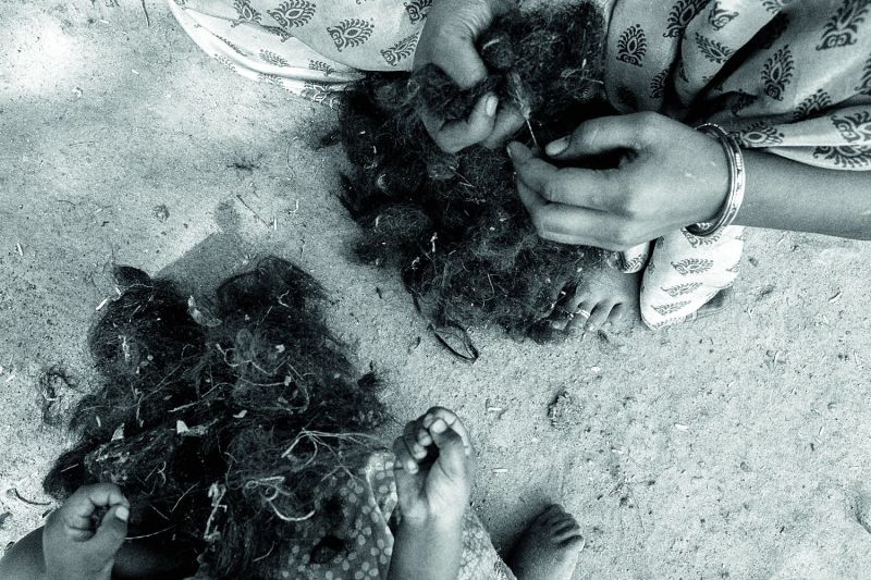 hairy tales: It takes five to eight days for ragpickers to collect a kilo of hair.