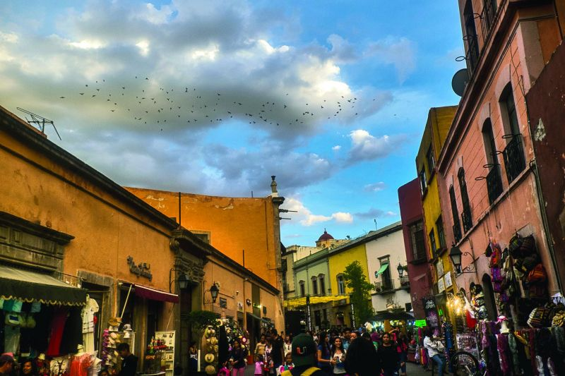 Enroute to SM, a stop at Queretaro's bustling marketplace in the city center