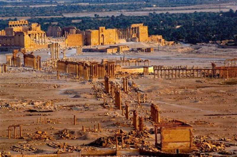 The site of the ancient city of Palmyra, Syria. (Photo: AP)