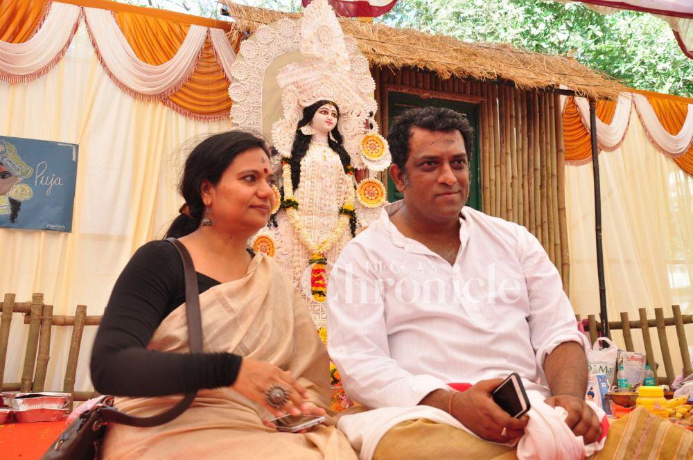 Anurag Basu with wife
