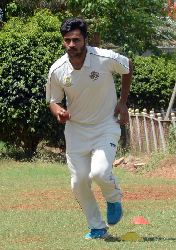Shardul Thakur has been training continuously in the nets keeping fitness as his main concentration. (Photo: Rajesh Jadhav/DC)