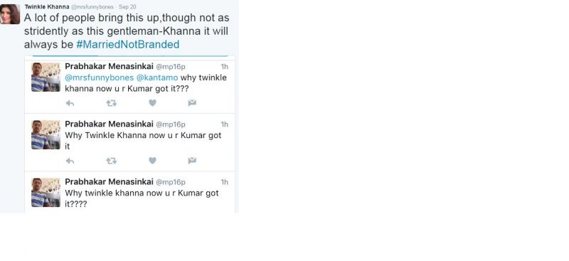 Twinkle Khanna's response to the fan's series of tweets.