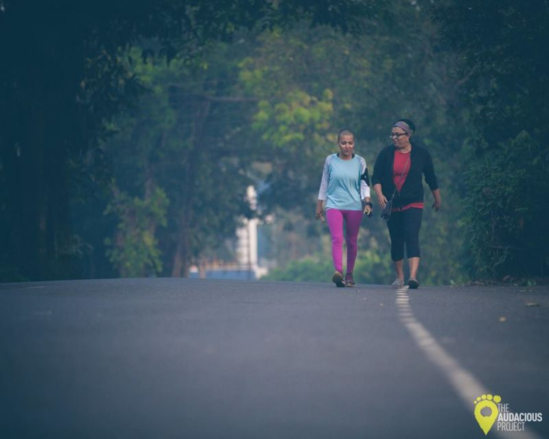 In an attempt at doing something different Aanchal went all the way to Goa on foot. (Photo: Facebbok)