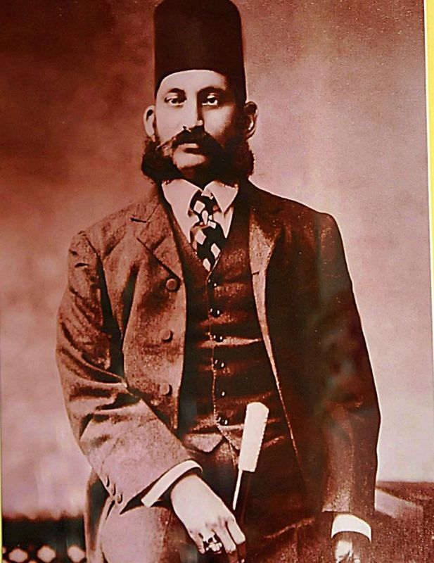 Portrait of Nawab Mir Mahbub Ali khan dated 1905