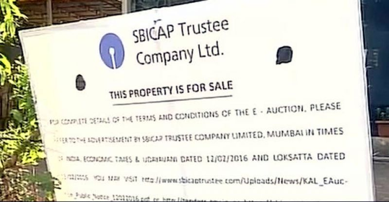 SBI notice put up in front of Kingfisher House (Photo: Twitter)