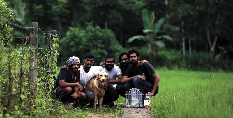 Manu with his crew