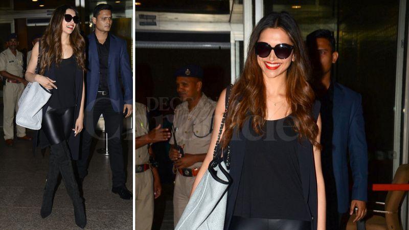 Deepika at Mumbai airport