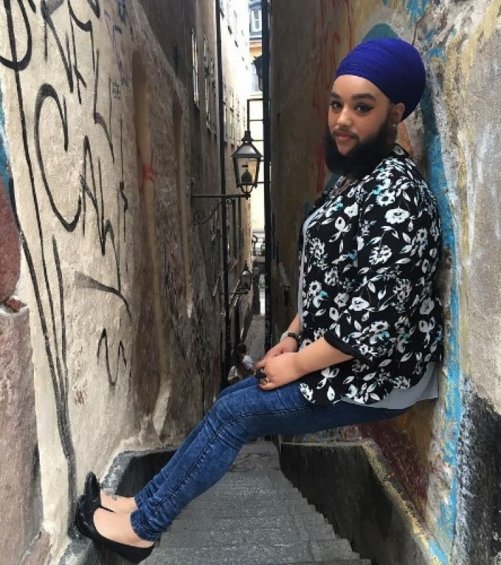 Harnaam Kaur had walked the ramp at the London Fashion Week (Photo: Instagram/Harnaam Kaur)
