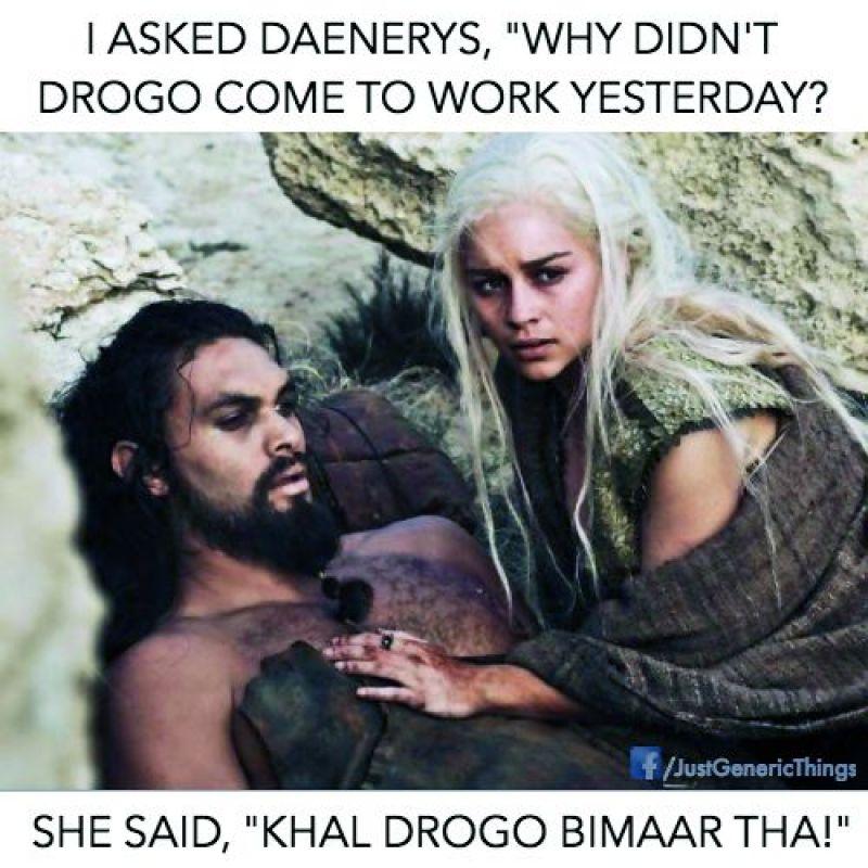 Memes that Viraj created  for his series #GameOfPuns
