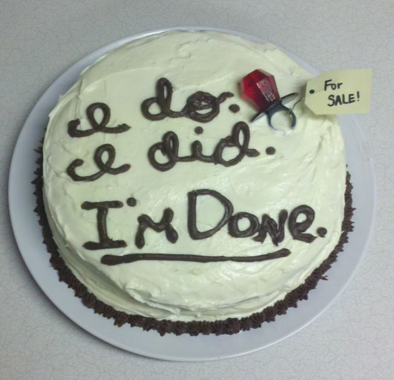 (Photo: Facebook/ Divorce Cakes)