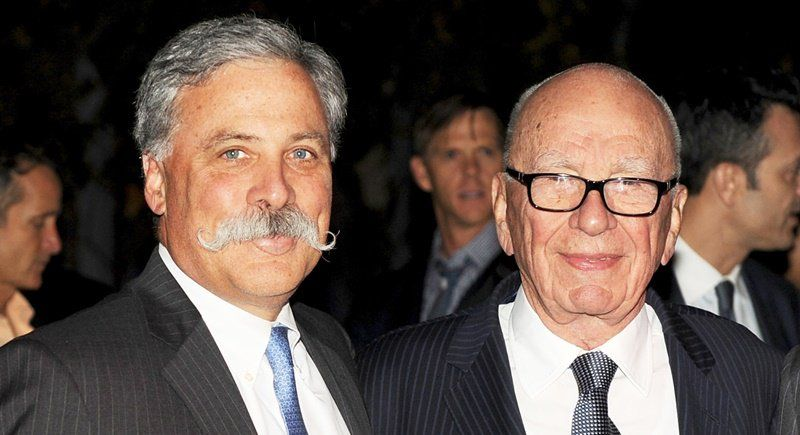 Chase Carey (left), the new face of Formula One. (Photo: AFP)