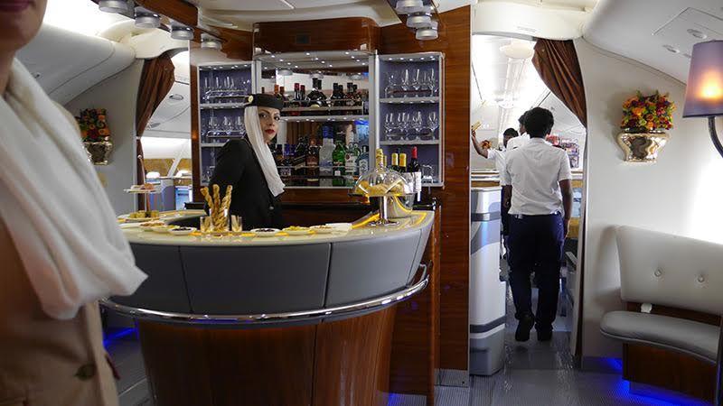 plane bar and lounge