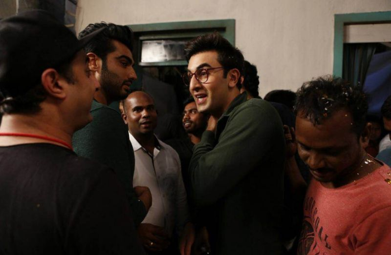 Ranbir in conversation with Basu and Arjun.