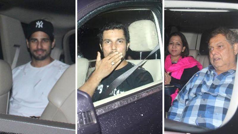Sidharth Malhotra, Randeep Hooda along with David Dhawan and his family.