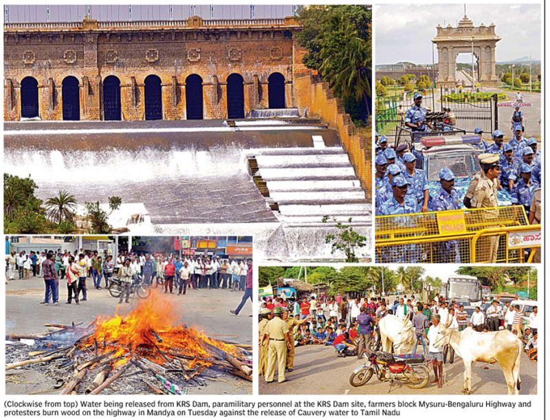 Cauvery water protests