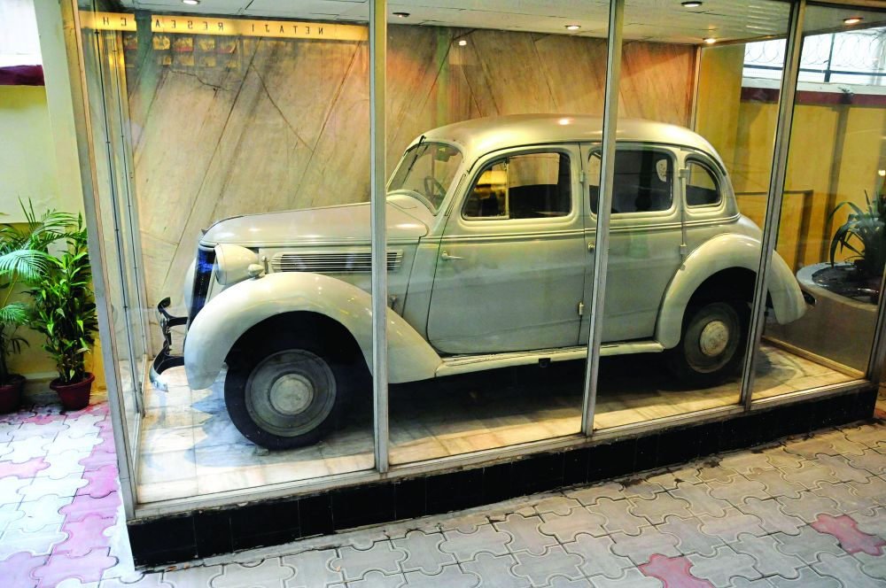 Escape: The car which was used by Bose, who was under British surveillance at the time, to slip out of Calcutta in 1941