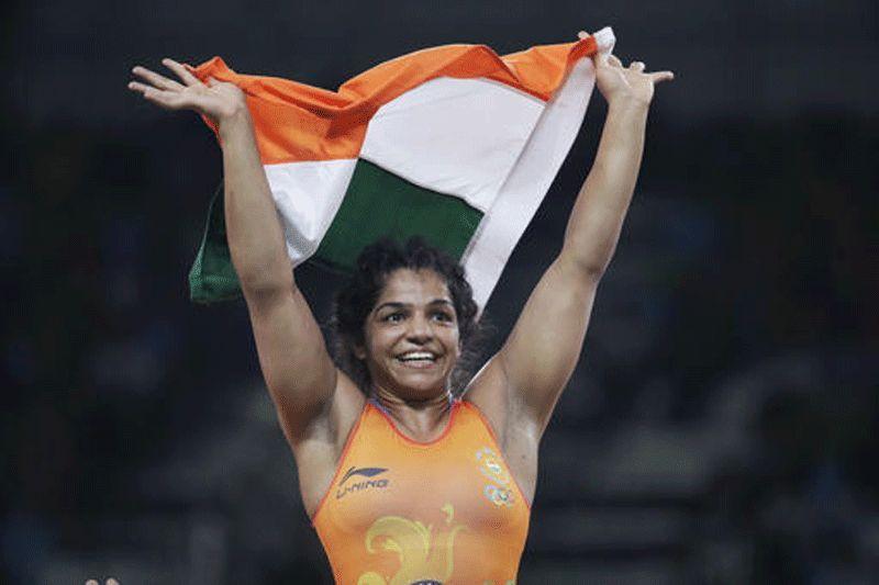 Sakshi Malik celebrating after winning the bronze medal. (Photo: AP)