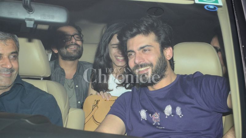 Fawad Khan can be seen sharing a light moment with his friends.