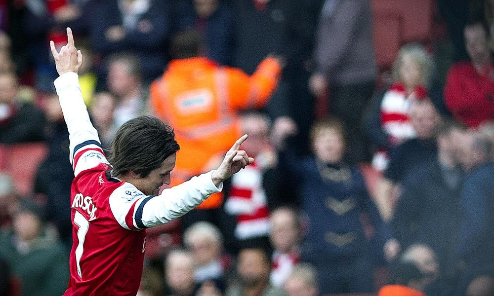Tomas Rosicky in action. (Photo: AP)