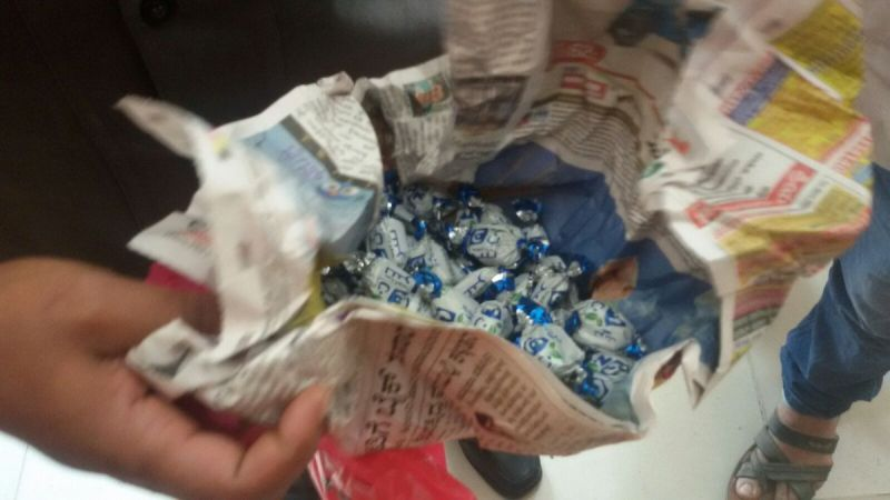 Police found chocolates in the plastic bag (Photo: ANI/Twitter)