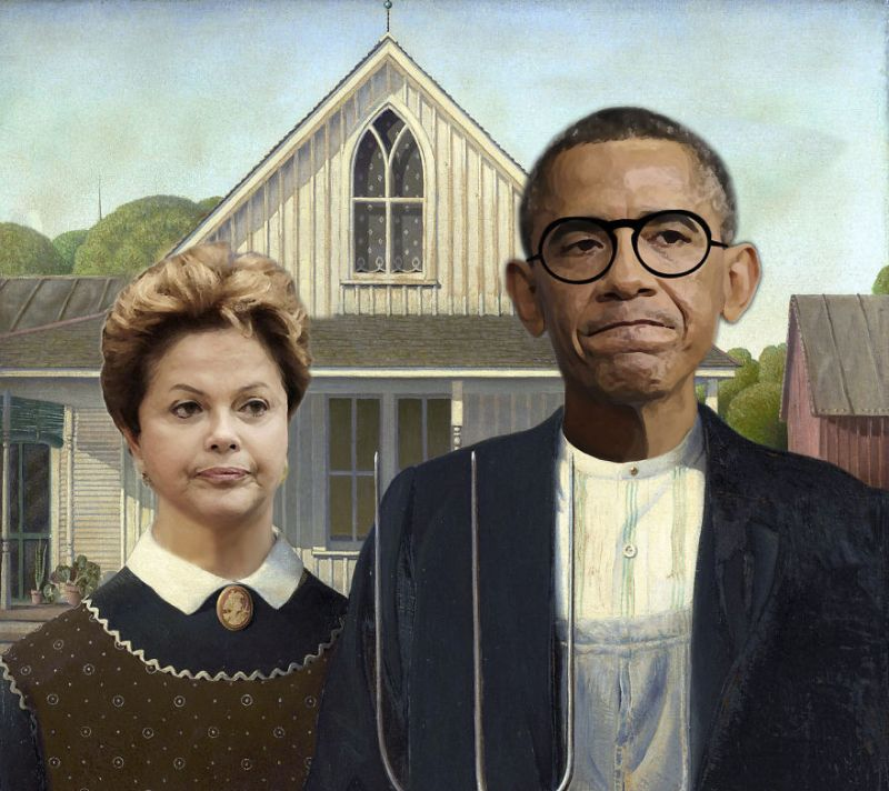 DesignCrowd Has Created Dilma Rousseff And Barack Obama In American GothicPhoto Designcrowd