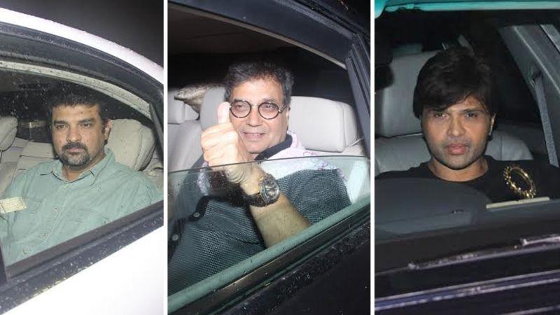 Sidharth Roy Kapur, Subhash Ghai and Himesh Reshammiya are all smiles for the paparazzi. Photo: Viral Bhayani