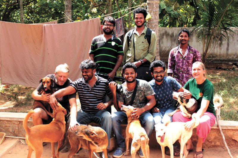 The cast and crew of the documentary Autobiography of a Stray Dog.
