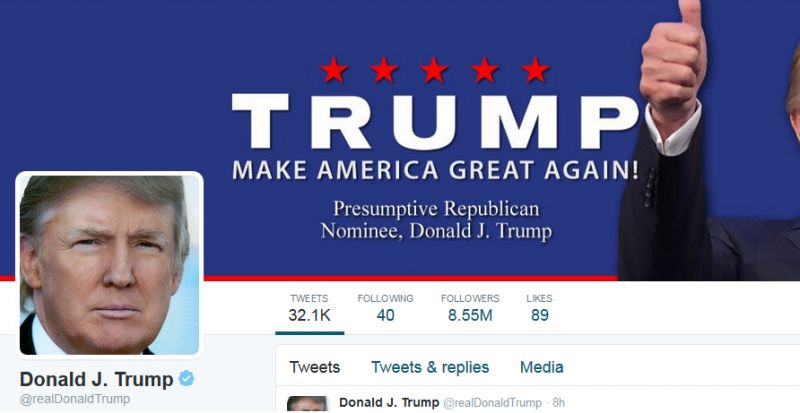 Donald Trump's official twitter account.