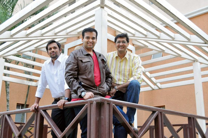 Left to right: Rahul M Kumar, Pulkeshin K Tiwary and Anjay Thakur
